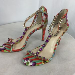 INC International Concepts Floral ankle strap 8.5